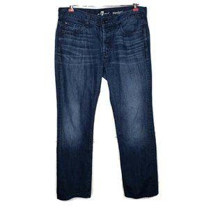 7FAM Standard Jeans Size 33 34X31 Cotton